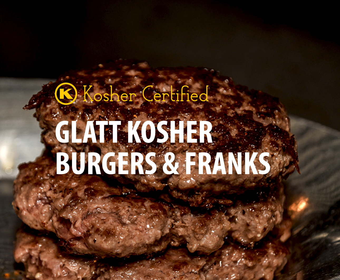 kosher burgers and franks